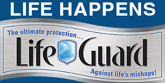 LIFE HAPPENS - and when it does, you're protected by LifeGuard - For Everyday Spills & Odors