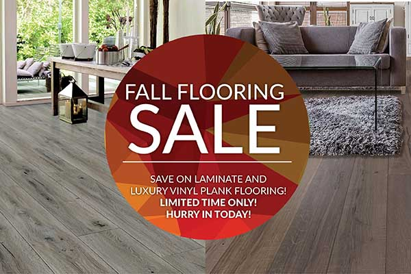 Fall Flooring Sale on Laminate and Luxury Vinyl for a limited time at Breegle's Abbey Carpet and Floor