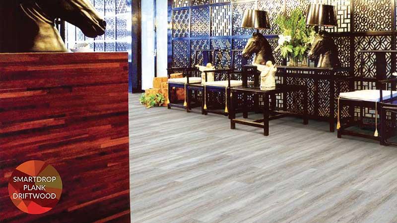 Fuzion SmartDrop Luxury Vinyl Plank Flooring exclusively at Breegle's Abbey Carpet and Floor